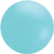 Giant Cloudbuster Balloon - 4ft Icy Blue